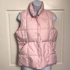 LANDS END Soft Pink Vest. Goose down fill. Sz 2/4